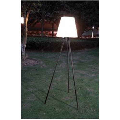 Outdoor Aluminum Floor Lamp Moris with White Lampshade IP65