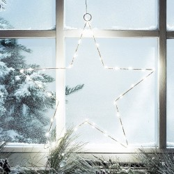 Copper Lighted Star 50cm for Christmas Decoration