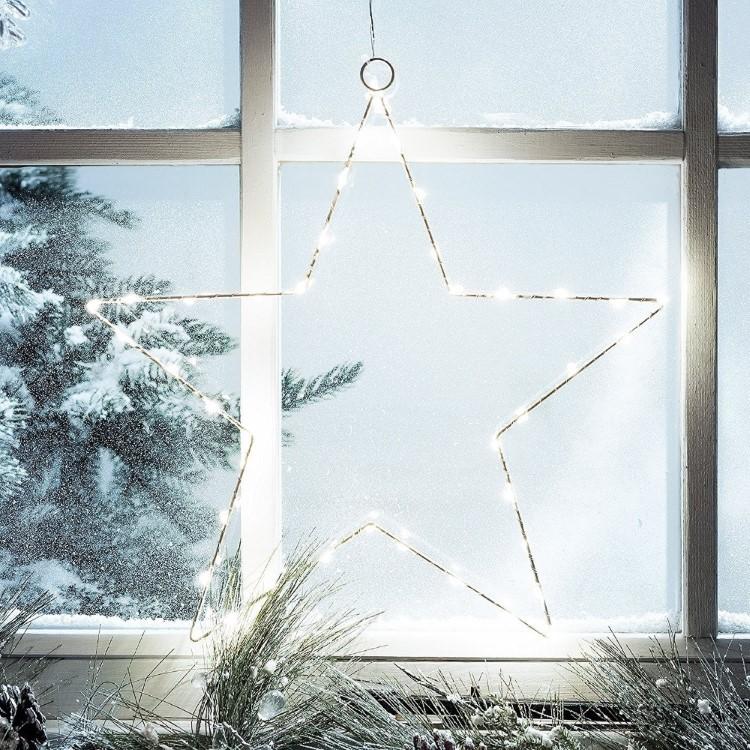 Αστέρι Χάλκινο 50cm Για Διακόσμηση Χριστουγεννιάτικη με Χαλκού LED Μπαταρίας