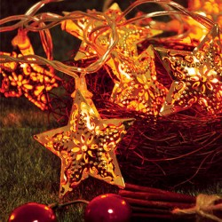 Decorative LED Lights Stars Copper Warm White