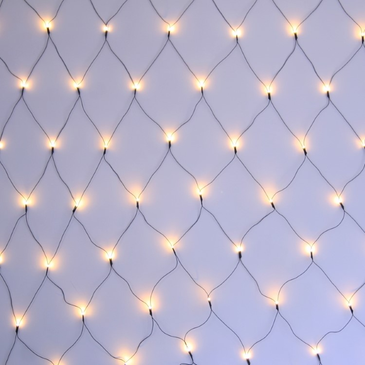 LED Net Lights 2x1.5m Green Wire Warm White