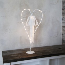 Wedding Decoration Heart with Battery Lights 56x26 cm 24 LED Warm Light