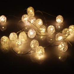 Ball Copper String LED Lights 20L with Battery  2m