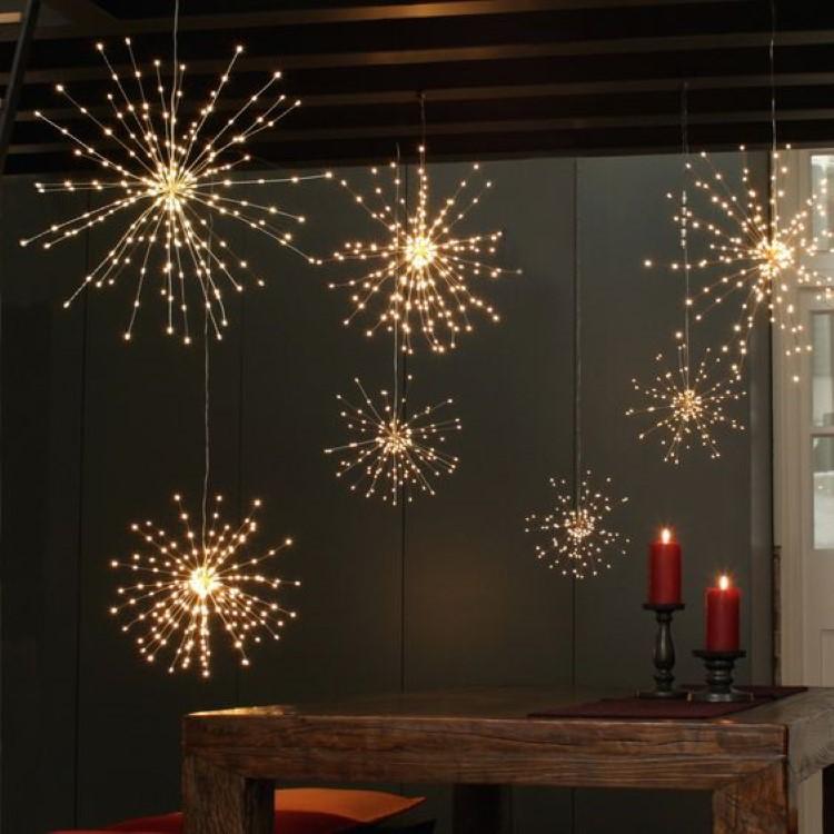 Πυροτεχνήματα LED χαλκού με μπαταρία Θερμό Φως