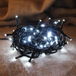 LED 300 Xmas Lights with Programm & Green Wire