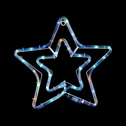 Xmas Double Star Multicolour 3m for Xmas Decoration