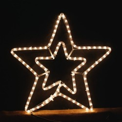 Xmas Double Star White 3m for Xmas Decoration