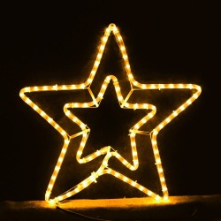 Xmas Double Star Yellow 3m for Xmas Decoration