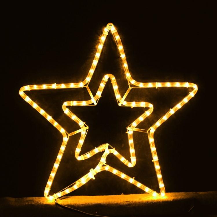 Διπλό Αστέρι 3μ Κίτρινο με πρόγραμμα για Χριστουγεννιάτικη Διακόσμηση
