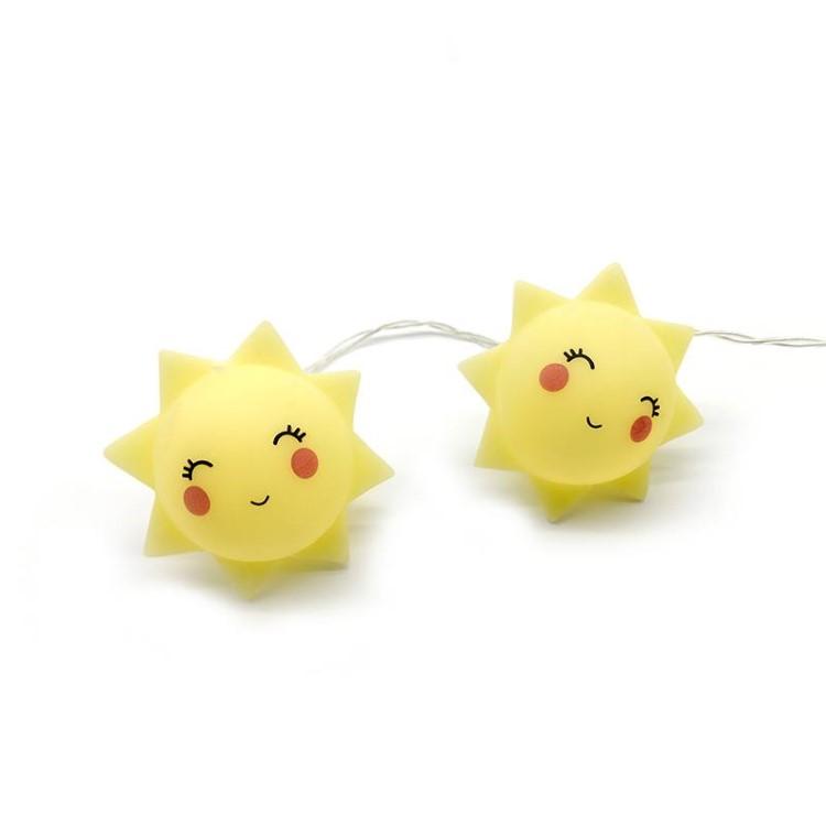 Διακοσμητικά Φωτάκια LED Αστεράκι Κίτρινο Θερμό Φως Μπαταρίας