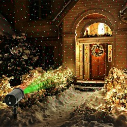 Projector Christmas White LED Colorful Laser