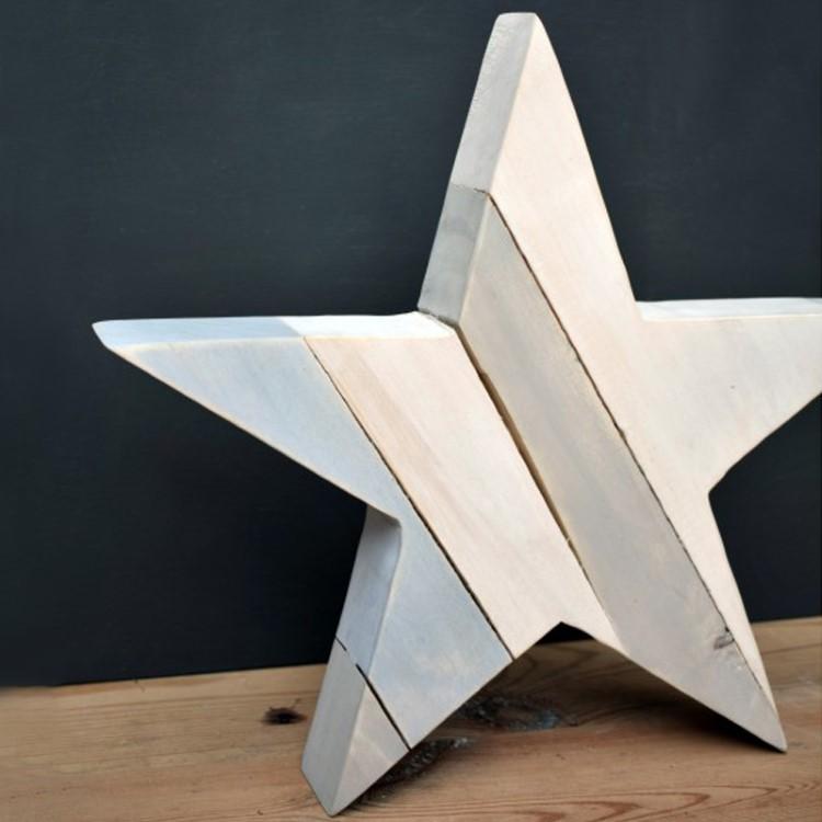 Χριστουγεννιάτικο Ξύλινο Αστέρι για Διακόσμηση