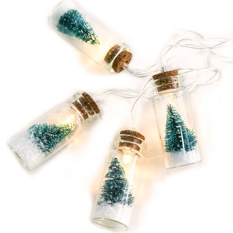 Διακοσμητικά Φωτάκια LED Μπουκαλάκια με Δεντράκι Θερμό Φως Μπαταρίας