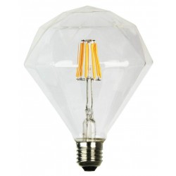 Led Filament Διακοσμητική Λάμπα Διαμάντι με Νήμα 6W Dimmable