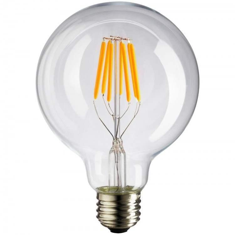 LED Λαμπτήρας με νήμα Filament E27 12W Γλόμπος G125 Θερμό Λευκό
