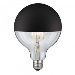 LED Globe G125mm E27 6W Dimmable Black Mirror