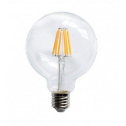 LED Globe G95mm E27 6W Dimmable Gold Glass filament