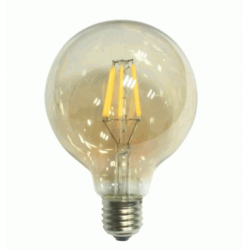 LED Γλόμπος G95mm E27 6W Dimmable Gold Glass με νήμα