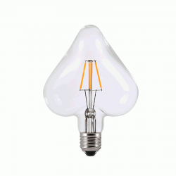 LED Λάμπα Διακοσμητική Σχήμα Καρδιά E27 6W Dimmable Filament Διαφανές Γυαλί με νήμα