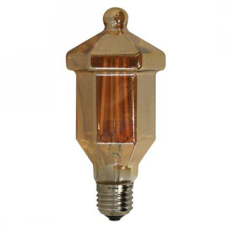 E27 Latern Amber Glass Dimmable 4W 2700K