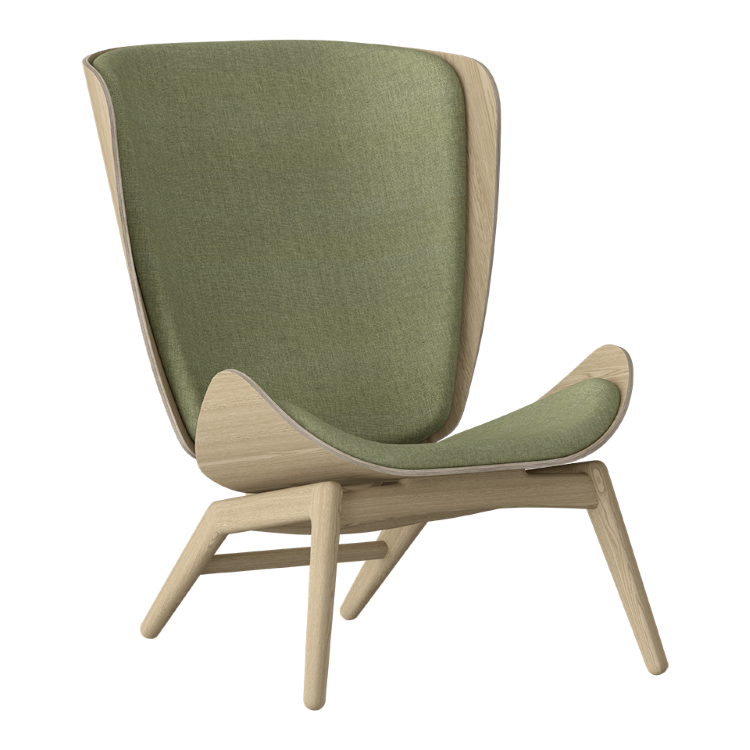 Πολυθρόνα The Reader Οξια με Ύφασμα Πράσινο by UMAGE