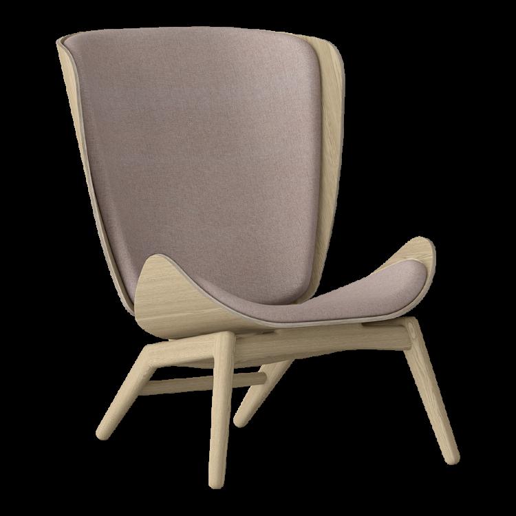 Πολυθρόνα The Reader Οξια με Ύφασμα Ροζ by UMAGE