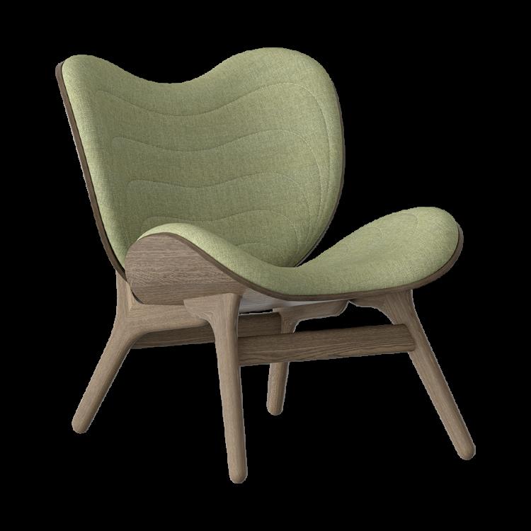 Πολυθρόνα A Conversation Piece Σκούρα Οξια με Πράσινο Ύφασμα by Umage