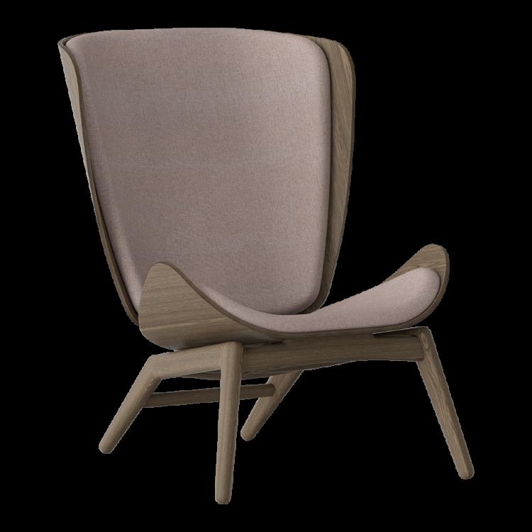 Πολυθρόνα The Reader Σκούρα Οξια με Ύφασμα Ροζ by UMAGE