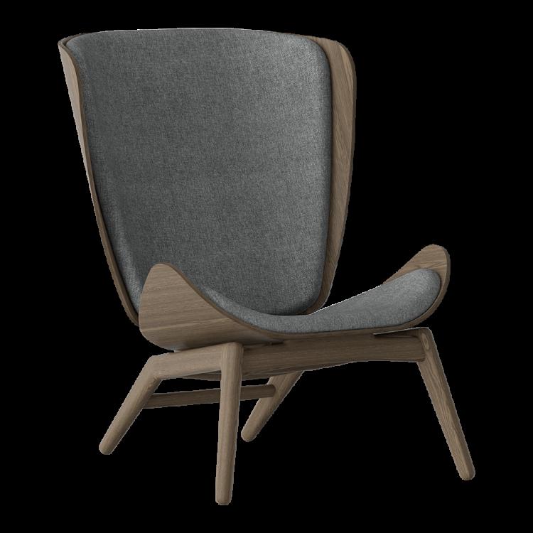 Πολυθρόνα The Reader Σκούρα Οξια με Ύφασμα Ανθρακί by UMAGE
