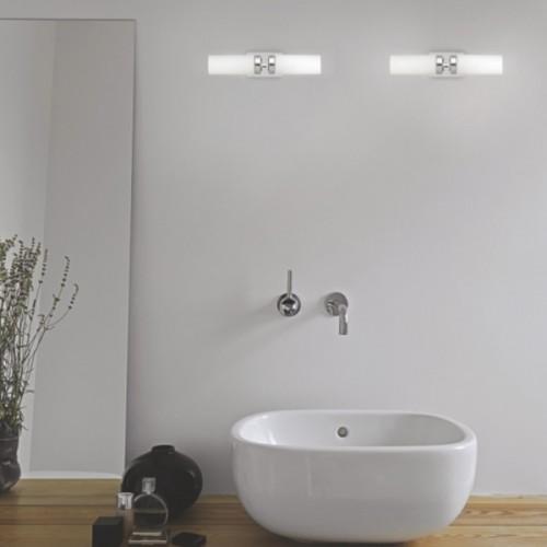 Φωτιστικό Μπάνιου Διπλό με Γυαλί IP44 Celtic Inox