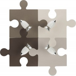 Puzzle Wall Lamp for kids 4xGU10 (Gray, Beige, Ecru, Brown)