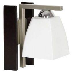 Glass Wall Lamp with wooden coating & metal base Beta Venge