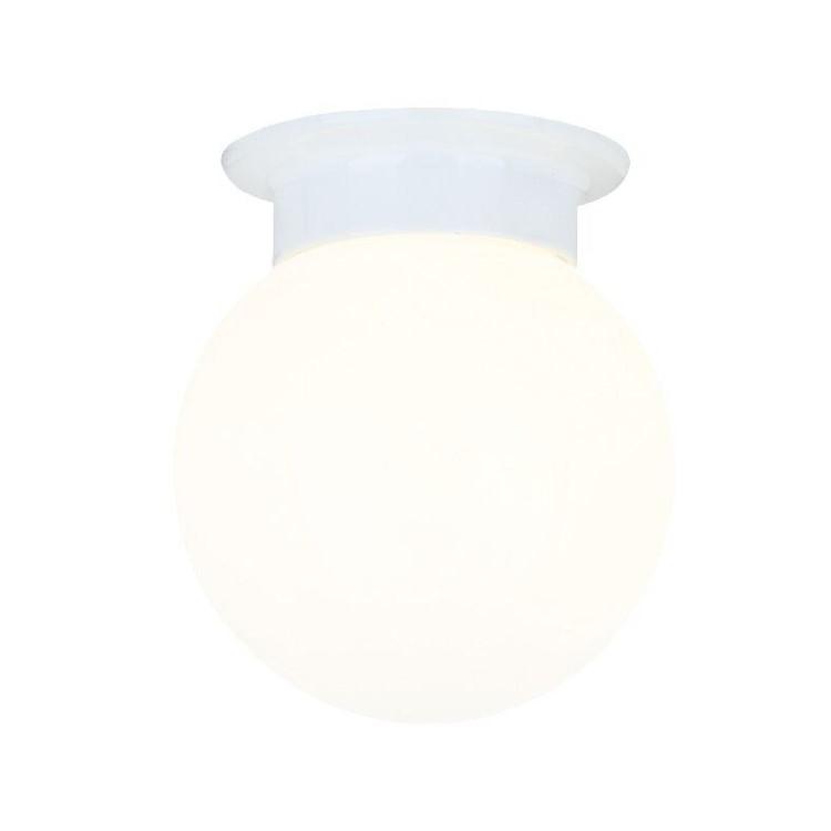 Μινιμαλ Φωτιστικό Μπάνιου Γλόμπος με Λευκή Βάση