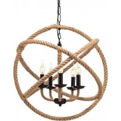 Pendant Light Ball with Rope 5XE14