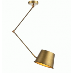 Metal Light Fixture Pendant with Brassed Brass metal Lampsades 1XE27