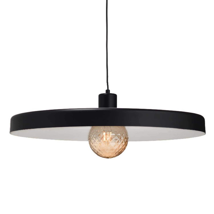 Metal Pendant Lighting Fixture G60cm Black MATTE 1xE27