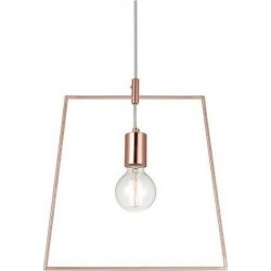 Metal Pendant Lampshade Square Gold