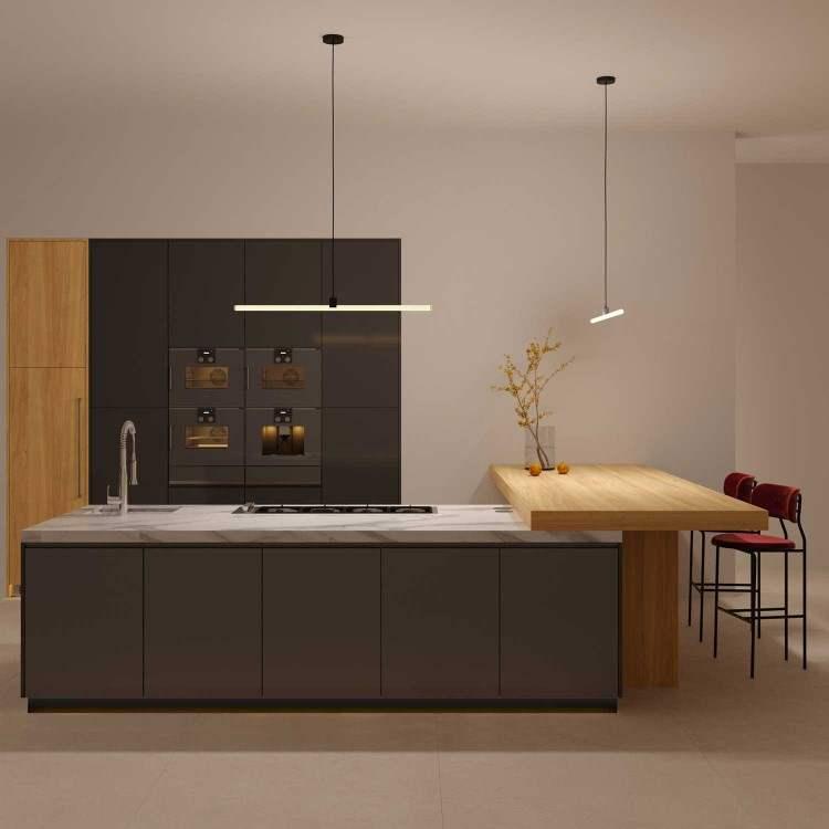 LED Γραμμικό Φωτιστικό Κρεμαστό Μαύρο 30cm/50cm 7W/10W Θερμό/Φυσικό/Ψυχρό Φως