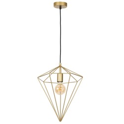 Pendant Light Basket Gold Polygon 1XE27