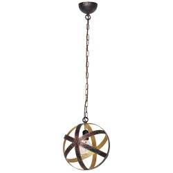 Modern Pendant Metal Lamp Pasco Vintage Copper-Brass (1xE27)