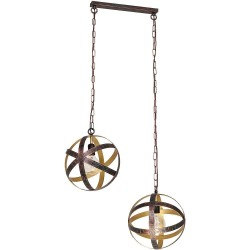 Modern Ceiling Metal Lamp Pasco Vintage Copper-Brass (2xE27)