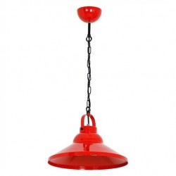 Industrial Metal Pendant Lamp-High Bay Iron ø30cm Red