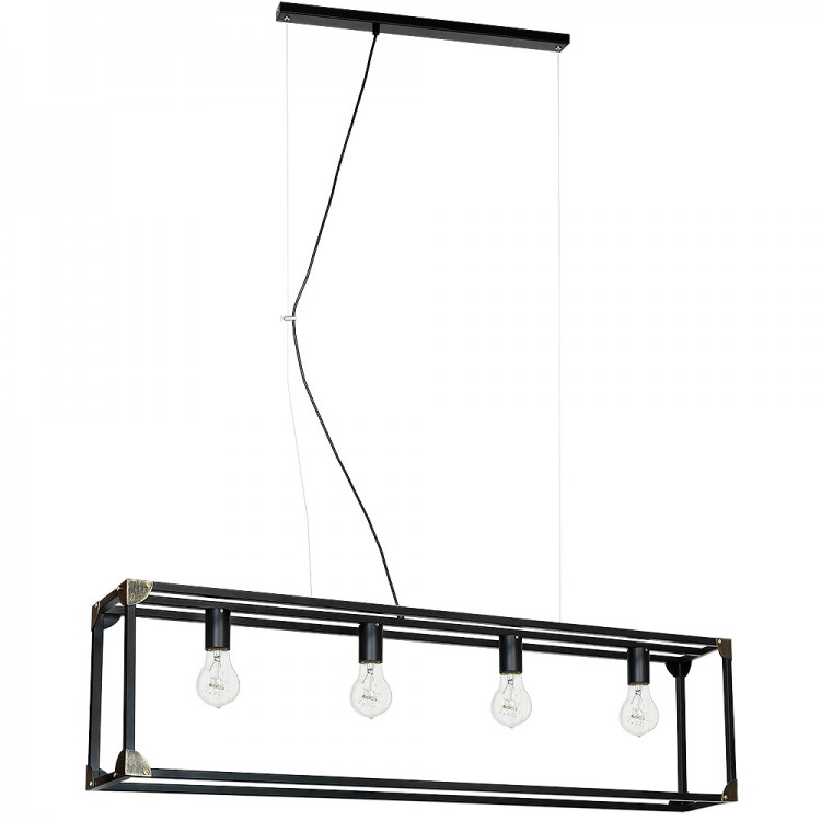 Trunk Rectangular Industrial Pendant Lamp-Cage (4xE27)