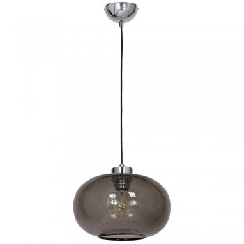 Pendant Glass Ellipse Lamp 30cm Fume