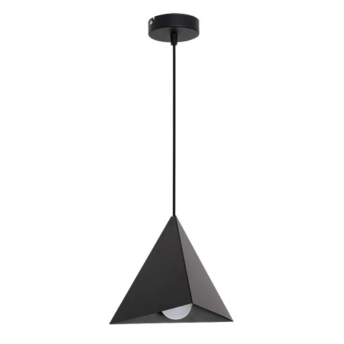 Metal Pendant Industrial Lamp Set (1xE27) Black
