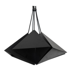 Metal Pendant Industrial Lamp Set (5xE27) Black