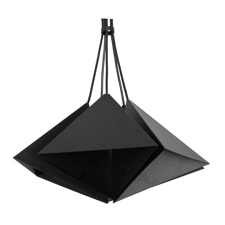 Metal Pendant Industrial Lamp Set (5xE27) Black