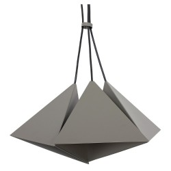 Metal Pendant Industrial Lamp Set (3xE27) Grey