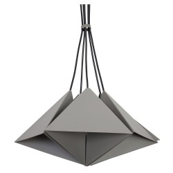 Metal Pendant Industrial Lamp Set (5xE27) Gray
