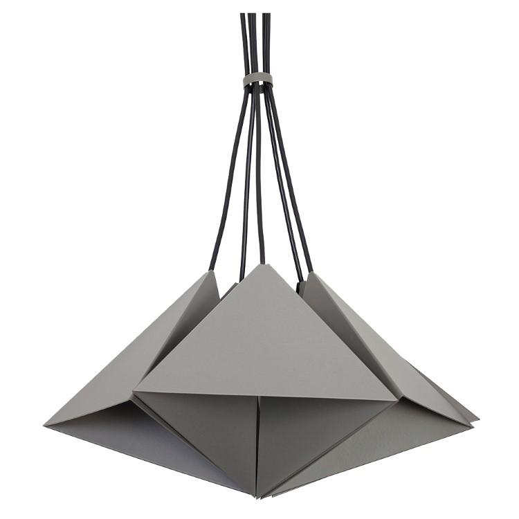 Metal Pendant Industrial Lamp Set (5xE27) Gray